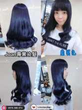 台北西門町染髮推薦joan 藍黑色